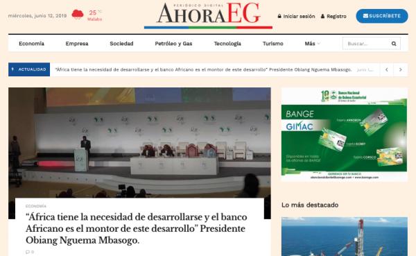 """""""AhoraEG"""", el nuevo periódico digital de Guinea Ecuatorial"""